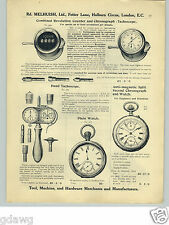 1913 PAPER AD Hand Tachoscope Split Second Chronograph Speed Counters