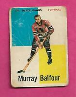 1960-61 TOPPS # 12 HAWKS MURRAY BALFOUR GOOD CARD (INV# C5650)