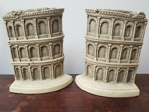 TMS Colosseum Italy Hard Resin Building Bookends