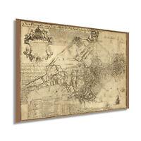 1769 Map Print of Boston Massachusetts - Vintage Boston MA Wall Art Poster Decor