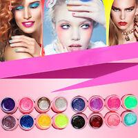 16* Mischung Farben Nagel Kunst Profi Glitzer Nail Art Tips UV Gel Set Balaco