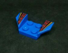 Lego Plate Car Mudguard 4x2 Swept, Print: Stars on Red [41854pb05] - Blue x1