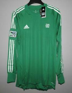 MLS Goal Keeper Authentic Green Adidas Soccer Football Jerseys New Mens Sizes