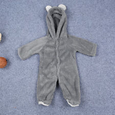 Newborn Infant Boys Girls Shaggy Thermal Romper Hooded Jumpsuit Bodysuit Outfits