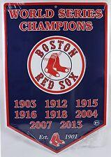 BOSTON RED SOX 8x WORLD SERIES CHAMPION METAL BANNER 2013 NEW Baseball MLB Tin