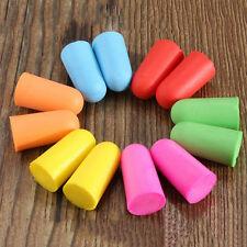 10x Pair Best Foam Soft Ear Plugs Sleep Work Travel Earplugs Noise Reducer  LU