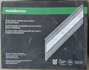 "Metabo/Hitachi, 3""x .131"", 30 degrees, Paper tape, Clipped head, 2500 nails/box"