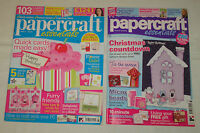 2 Papercraft Essentials Magazines Issues 28 & 33 - - Great!