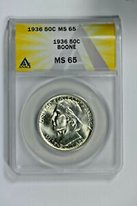 1936 ANACS MS65 Classic Commemorative Boone Half Dollar-Really Nice Luster!!