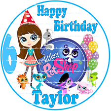 LITTLEST PET SHOP : ROUND Personalized Edible Cake Image