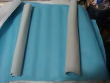 Vintage Vinyl Upholstery Fabric Remnant Sky Blue 11 x 17 inches 2 pieces