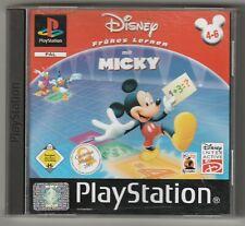 Disney Frühes Lernen mit Mickey deutsch mit Anl- Play Station 1 PS1 PAL Version