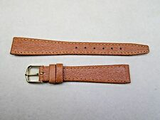 band strap camel color stitched 14mm lady's genuine pigskin watch