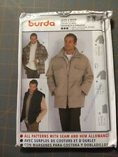 Burda Sewing Pattern 8766 Men's Size 36-48 Winter Zipper  Jacket Vest UNCUT