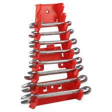Plastic Red 9 Slot Wrenches Rack Standard Organizer Holder Tools Wall Mounted