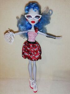 Monster High Ghoulia Yelps - Dot Dead Gorgeous. IMMACULATE EXAMPLE DISPLAY ONLY!