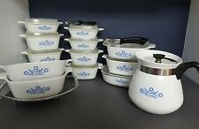 Vintage Corning Ware Blue Cornflower  28 pc lot 2 qt Coffee Pot