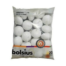 120 PREMIUM BOLSIUS WHITE FLOATING CANDLES, 6 x 20 PACK 5HOUR BURN TIME!!