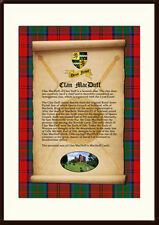 CLAN MACDUFF - Clan History, Tartan, Crest, Castle & Motto MOUNTED PRESENTATION