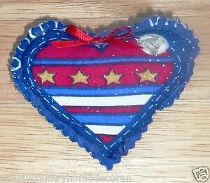 PINS~Patriotic~Stars & Stripes~Puffy Heart Shaped~Designs Vary~NEW