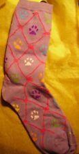 "Cat Lover Socks - ""Pawprints""  on Lilac"