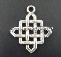 100pcs Tibetan Silver 25x21mm Nice Tie Charms Pendants 572