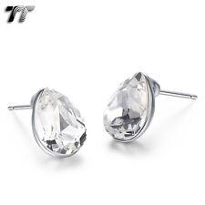 TT 925 Sterling Silver Tear make with Drop Crystal Earrings (925E06)