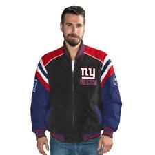 New York NY Giants Officially Licensed NFL Men's Suede Jacket Coat by Glll S NWT