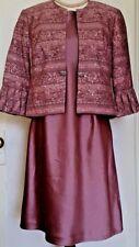 R & M RICHARDS petite evening lilac lavender lined 2 pc Dress Jacket 14 P