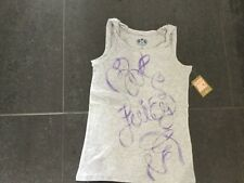 NWT Juicy Couture New & Genuine Grey Sleeveless Cotton T-Shirt Girls Age 10