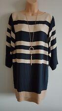 DAY BIRGER ET MIKKELSEN Womens blue & beige stripe dress size