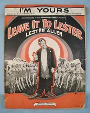 Im Yours Sheet Music Vintage 1930 Leave It To Lester Allen John Green (O) AS IS