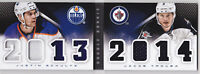 13-14 Panini Playbook Justin Schultz Jacob Trouba Jersey Rookie Classbook 2013
