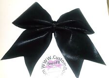 Black  Mystique Cheer Hair Bow