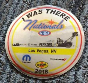 """2018 Leah Pritchett """"I Was There"""" Pennzoil Top Fuel Las Vegas NHRA Decal Sticker"""