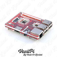 Red Acrylic Case for Raspberry Pi 3 Model B VaultPi