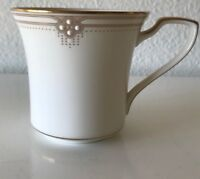 """Noritake #7730 SATIN GOWN Gold Trim Coffee Cup 8 1/4"""", Made in Japan."""
