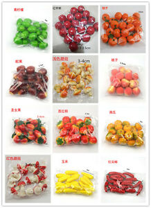 20 PCS/Pack Simulation Model Mini PE Bubble Small Fruits Vegetables Decor DIY