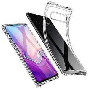 Soft Silicon gel clear transparent back case for Samsung Galaxy S10, S10 Plus
