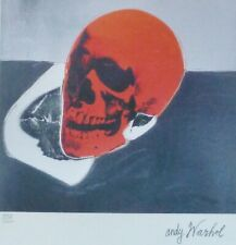 ANDY WARHOL SKULL RED SIGNED + HAND NUMBERED 4158/5000 LITHOGRAPH