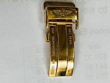 18k Yellow Gold Deployment Buckle For Breitling 18 Mm Clasp New #4051