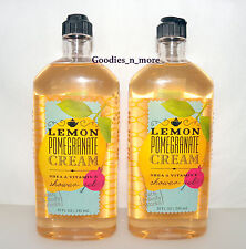 2 New Bath & Body Works LEMON POMEGRANATE CREAM Shower/Bath Gels RARE!