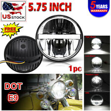 "Motorcycle 5.75"" 5 3/4 LED Headlight Projector For Dyna Sportster XL1200 XL883"
