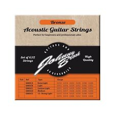 Bronze Acoustic Guitar Strings for 12 String Guitars (Light Gauge) Set of 12