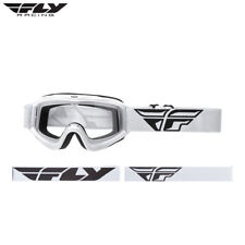New Youth Kids 2018 Fly Focus Goggles White Motocross Enduro BMX Clear Lens