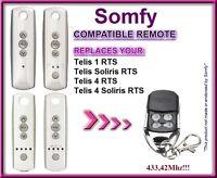 Somfy Telis 4 RTS / Somfy Telis 4 Soliris RTS compatible télécommande 433,42Mhz