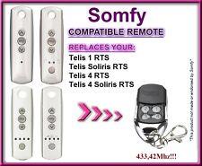Somfy Telis 4 RTS, Somfy Telis 4 Soliris RTS Compatible Télécommande 433,42Mhz