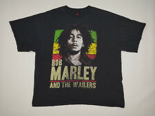 Bob Marley T Shirt Men's 2XL XXL Wailers 2000s Raggae Graphic Tee Rasta Vintage