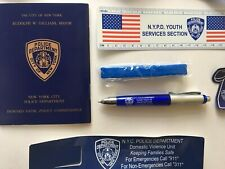 NYPD Police Dept  Pen, Keychain, Wristband, Ruler, Health & Safety Record NYC