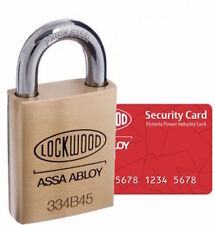 Lockwood 334BP12/119MT5 Padlock Keyed to VPIL-Power Industry (VIC) Master Key-